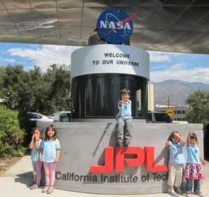 the entrance to NASA's Jet Propulsion Lab
